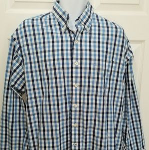 One day sale! Boys Large blue Plaid Oxford,